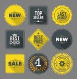 Promo etykietki i odznaki ilustracja wektor