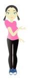 Promo girl Stock Image
