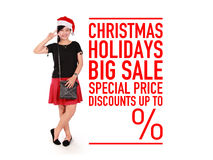 Promo grande de la venta de los días de fiesta de la Navidad Imágenes de archivo libres de regalías