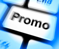 Promo Keyboard Shows Discount Reduction Or Save Royalty Free Stock Photography