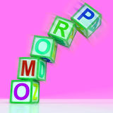 Promo Letters Mean Bargain Reduced Price Or Special Royalty Free Stock Photos