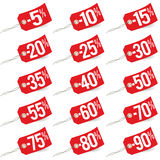 Promo sale labels Stock Photo