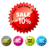 Promo Sale Stickers. Royalty Free Stock Photography