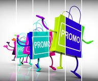 Promo Shopping Bags Show Discount Reduction or Sale Royalty Free Stock Photography