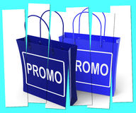 Promo Shopping Bags Show Discount Reduction or Sale Stock Image