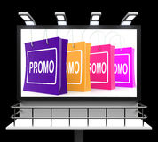Promo Shopping Sign Shows Discount Reduction Or Save Stock Photos