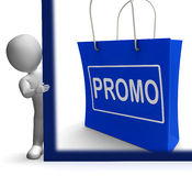 Promo Shopping Sign Shows Discount Reduction Or Save Royalty Free Stock Photography