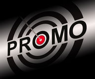 Promo Shows Bargain Advertisement Flyer Royalty Free Stock Photos