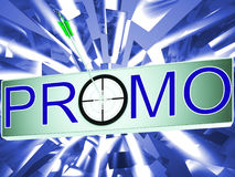 Promo Shows Promotion Discount Sale Royalty Free Stock Images