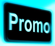 Promo Sign Shows Discount Reduction Or Save Royalty Free Stock Photography