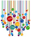 Promo soldes board. Abstract colorful graphic 3d illustration Stock Photo