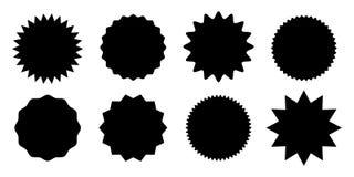 Promo sprzedaży majcheru starburst gwiazdy etykietki wektor ilustracji