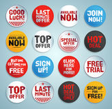 Promo stickers and buttons Stock Photography