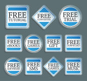 Promo stickers Royalty Free Stock Images