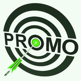 Promo Target Shows Promoted Shopping Sale Stock Images
