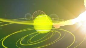 Promo van tennistoernooien stock illustratie