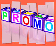 Promo Word Mean Special Reduced Price Or  Off Royalty Free Stock Images