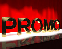Promo Word On Stage Showing Sale Stock Photos