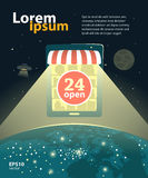 Promoción de la tienda de Internet ilustración del vector