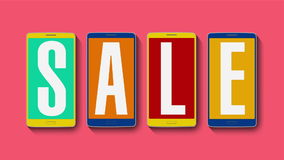Promoción de la venta, descuento el 90%, alarma eficaz de la venta libre illustration