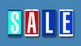 Promoción de la venta, descuento el 20%, alarma eficaz de la venta stock de ilustración