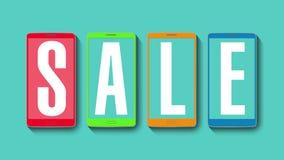 Promoción de la venta, descuento el 30%, alarma eficaz de la venta ilustración del vector