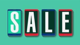 Promoción de la venta, descuento el 40%, alarma eficaz de la venta stock de ilustración