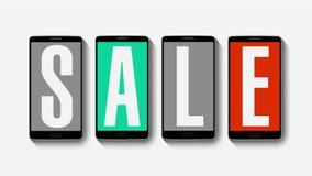 Promoción de la venta, descuento el 50%, alarma eficaz de la venta ilustración del vector