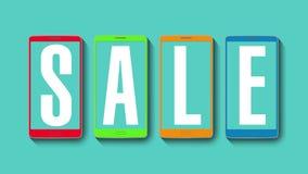 Promoción de la venta, descuento el 70%, alarma eficaz de la venta stock de ilustración