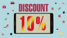 Promoción de la venta, descuento el 10%, alarma eficaz de la venta version2 libre illustration