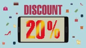 Promoción de la venta, descuento el 20%, alarma eficaz de la venta version2 libre illustration