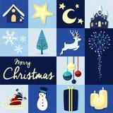 Promoción de venta del fondo de la tarjeta gráfica de la Feliz Navidad Imágenes de archivo libres de regalías