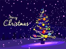 Promoción de venta del fondo de la tarjeta gráfica de la Feliz Navidad Imagenes de archivo