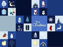 Promoción de venta del fondo de la tarjeta gráfica de la Feliz Navidad Fotos de archivo