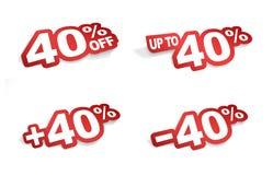 promoción del 40 por ciento Fotografía de archivo libre de regalías