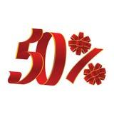 promoción del 50 por ciento Imágenes de archivo libres de regalías