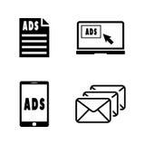 promoción Iconos relacionados simples del vector Imágenes de archivo libres de regalías