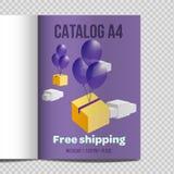 Promoción rápida del ejemplo de la hoja del catálogo A4 del vector ilustración del vector