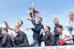 Promoción y campeones del Afc Bournemouth Foto de archivo