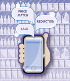 Promociones móviles del márketing Fotos de archivo