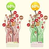 Promocja Dyskontowy dodatek 60 procentów Obrazy Stock