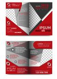 PROMOCYJNA broszurka szablonu 4 strona zdjęcie royalty free