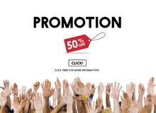 Promocyjny obniżonej ceny etykietki kampanii pojęcie Zdjęcie Stock