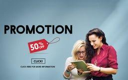 Promocyjny obniżonej ceny etykietki kampanii pojęcie obrazy stock