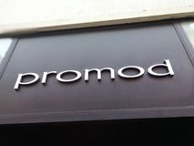 Promod store signage. Mannheim, Germany - August 24, 2017: Promod store signage. Promod is an originally French chain of women`s fashion stores, with more than 1 Stock Images