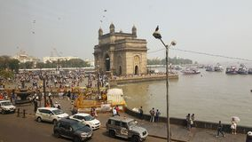 Promonade of Gateway of India, Mumbai. The Gateway of India is an arch monument built during the 20th century in Bombay, India. The monument was erected to Royalty Free Stock Photo