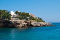 Promontório e mar Mediterrâneo de Porto Cristo Fotografia de Stock