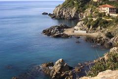 Promontório no mar Foto de Stock