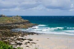 Promontório rochoso em St Ives fotografia de stock royalty free