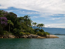 Promontório tropical, Brasil. fotografia de stock
